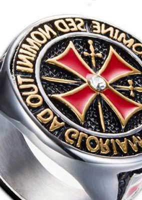 The Knights Templar Ring Silver