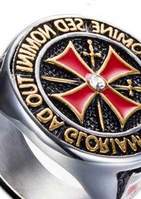 The Knights Templar Ring Silver