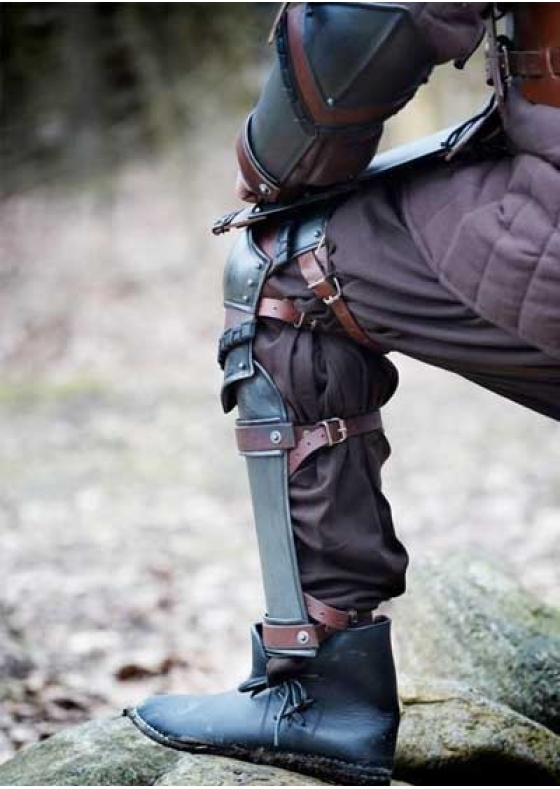 Larp Leg Protection Armour - Leather Greaves
