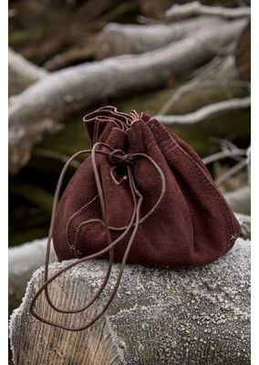 Medieval Brown Leather Round Bag
