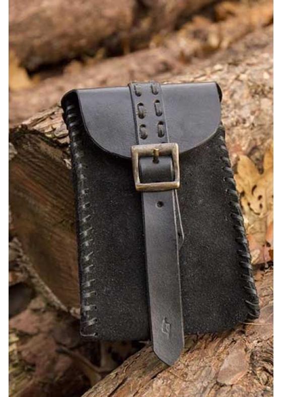Black or Brown Leather Merchant Bag