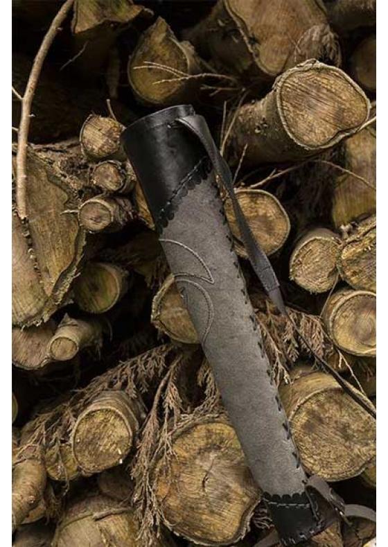 Medieval Archer Quiver Dark Grey/Black for LARP