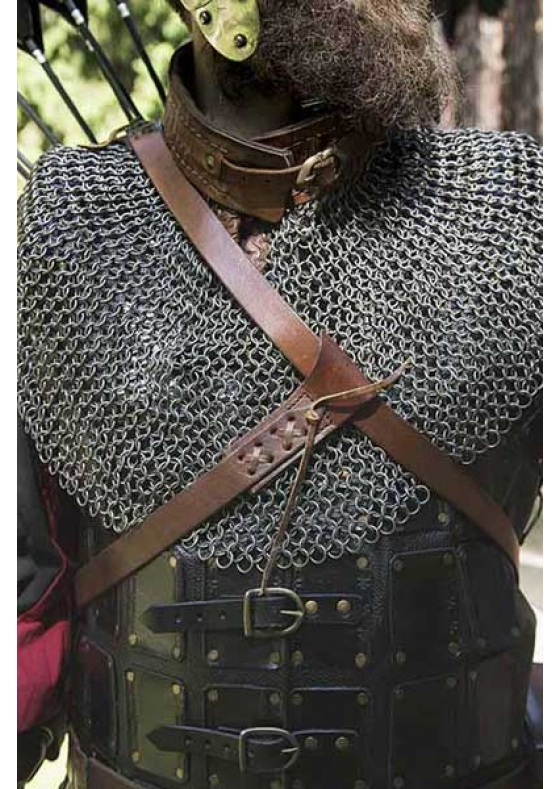 Medieval Imperial Brown Leather Quiver for LARP