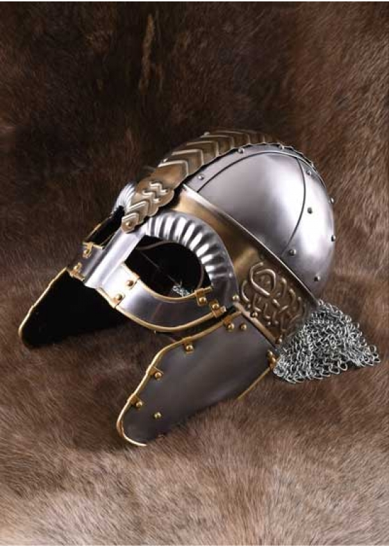 Helmet Beowulf with chainmail