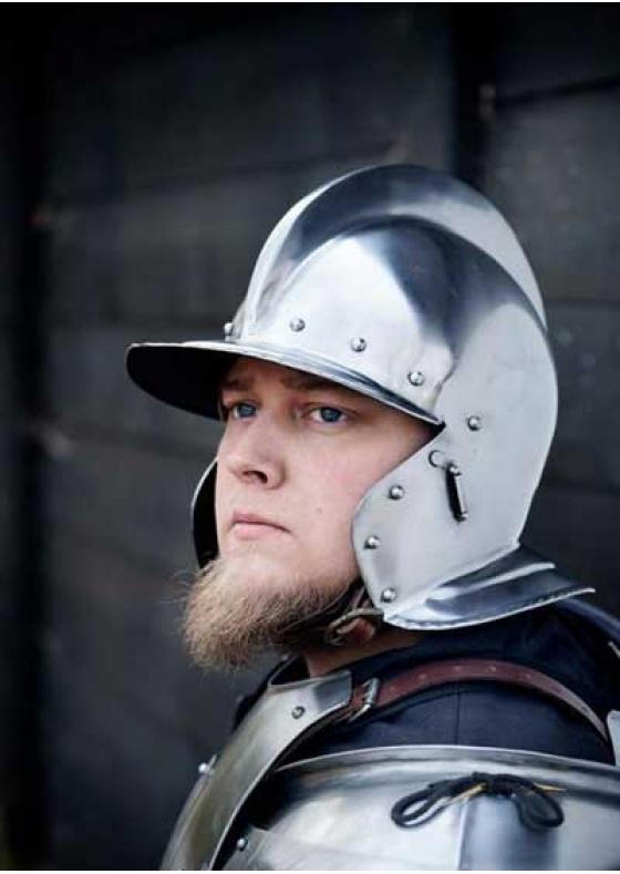 Functional Cavalry Helmet Polished Steel