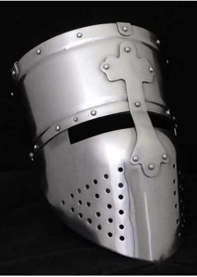 Casco Templario Cruzado, circa 1200 AD, acero de 1,6 mm