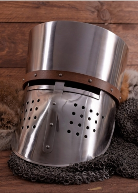 Crusader Helmet - 2mm Steel - Functional Replica