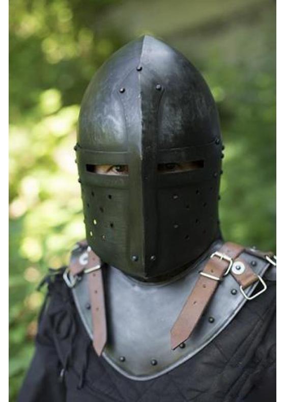 Functional Sugar Loaf Helmet - Dark Steel