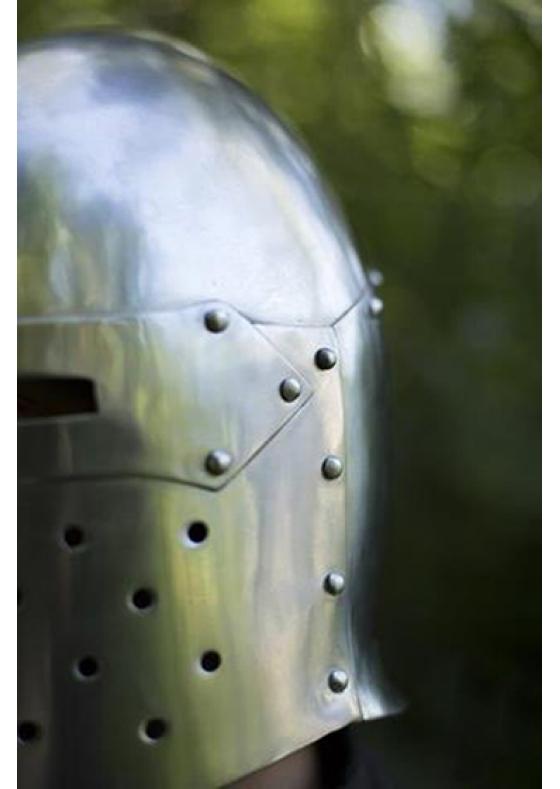 Functional Sugar Loaf Helmet - Polished Steel