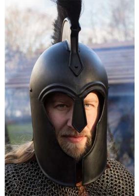 Troy Helmet, Dark Steel, Fully Functional