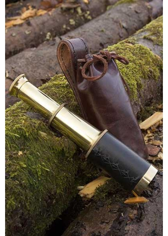 Pirate Functional Telescope with Leather Pouch