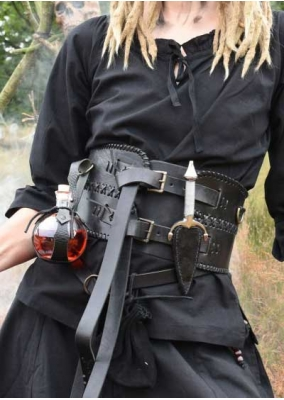 Broad Belt or Corset, Leather for Larp