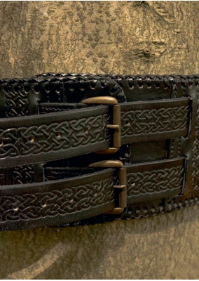 Barbarian Leather Belt, Black