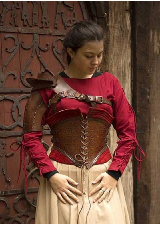 Medieval Corset Margarit, Red or Black