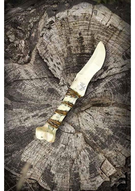 Bone Larp Knife - Perform a powerful ritual before battle!