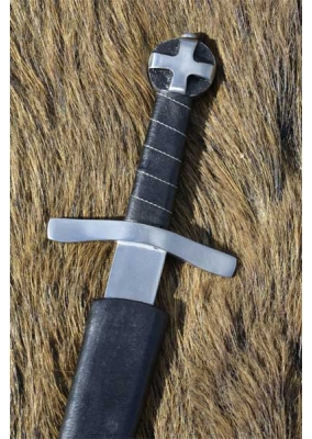 Medieval Crusader Dagger with Scabbard