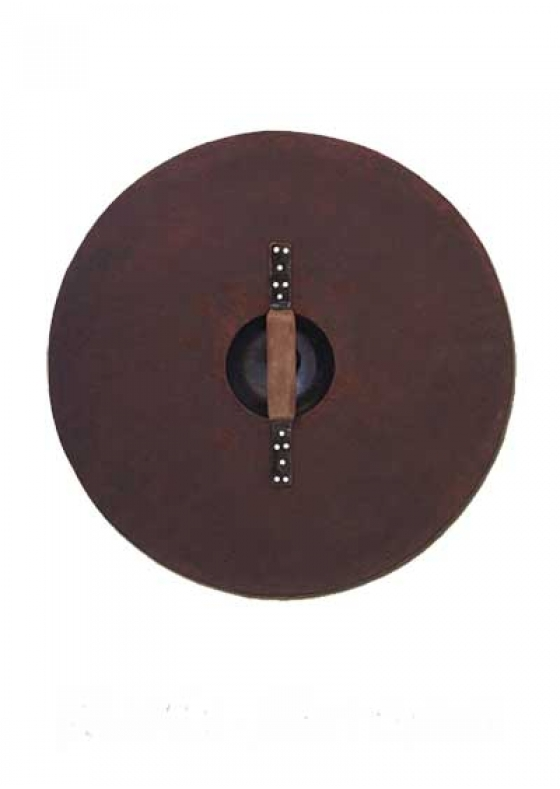 Viking Round Functional Shield with Steel Fittings Mod. 2