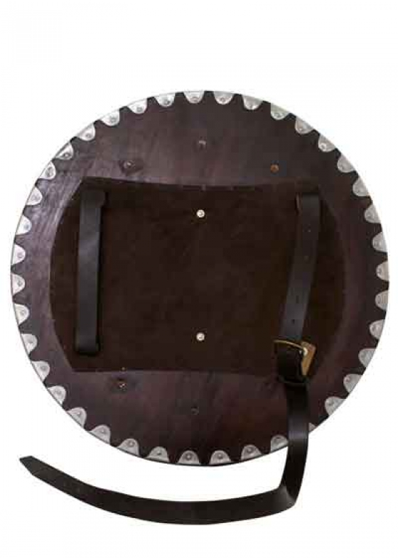 Viking Round Functional Shield with Steel Fittings Mod. 3