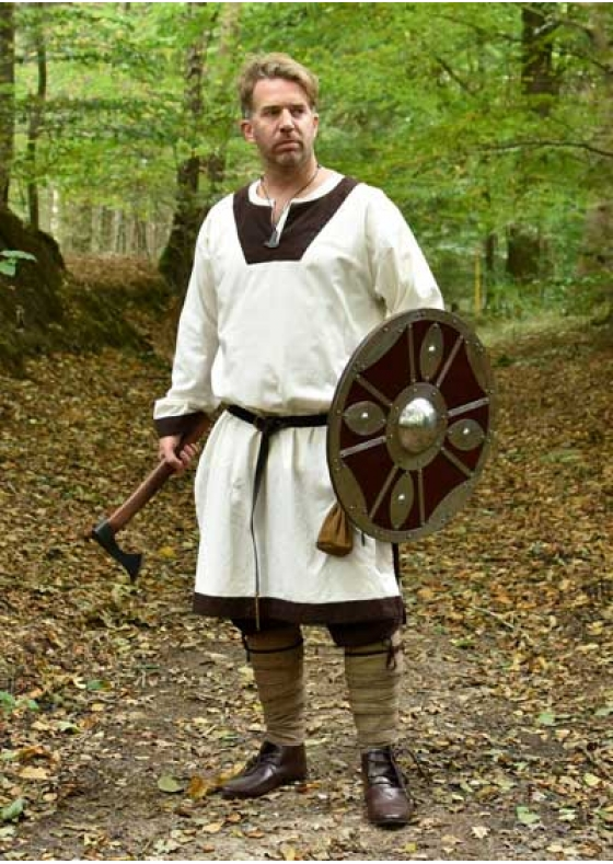 Viking Round Functional Shield with Steel Fittings