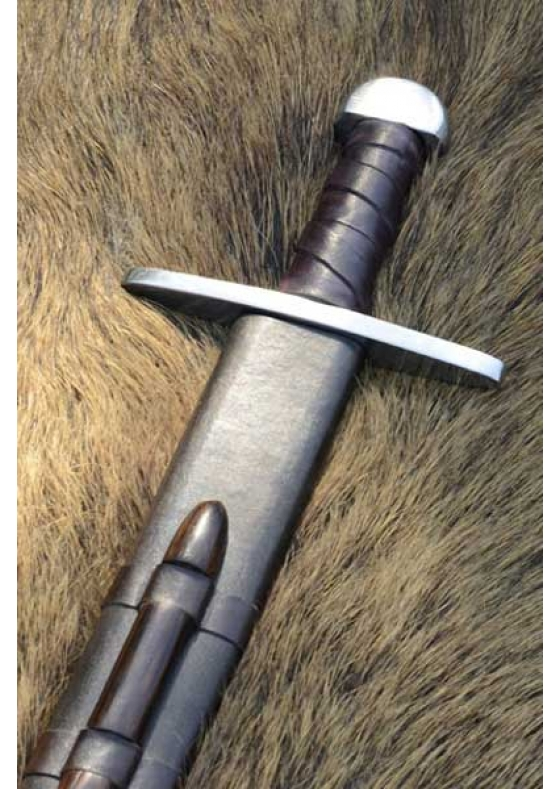 Norman Functional Sword With Leather Sheath - Regular Edition