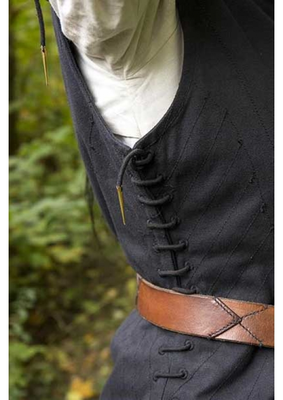 Woman's Medieval Gambeson in Black