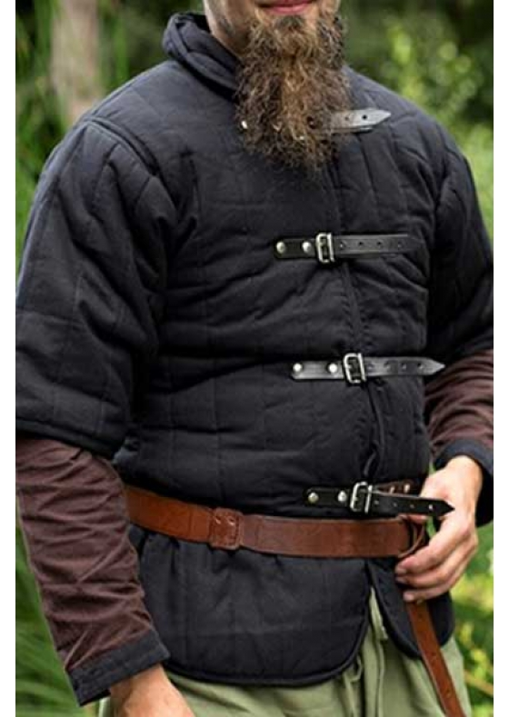 Black Medieval Gambeson Short Sleeve - Ready for Battle