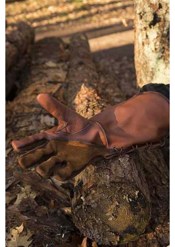 Medieval Falcon Brown Gloves