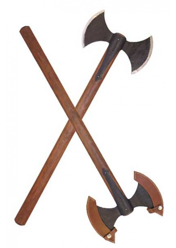 Hand-Forged Double Medieval Axe with Protection