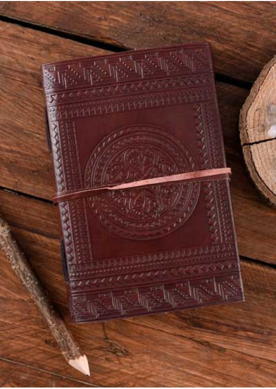 Leather Diary with Medieval Design