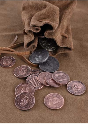 LARP Roman Coins Set with Purse