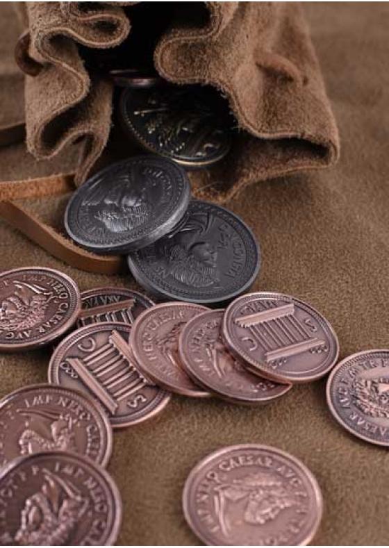 LARP Roman Coins Set with Purse