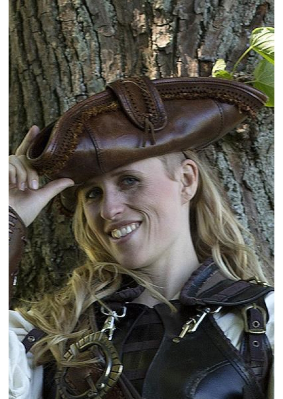Pirate Hat Black or Brown Leather